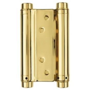 Петля износостойкая на дверь толщиной до 27 мм до 45 кг барная 100 мм цвет золото