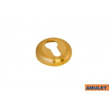 Накладка на цилиндр матовое золото