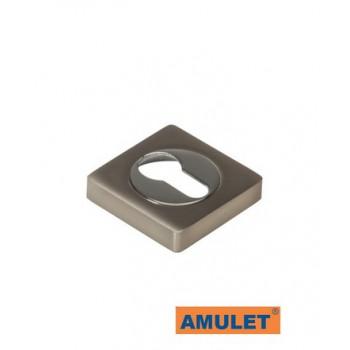 Накладка квадратная на цилиндр Квадро хром