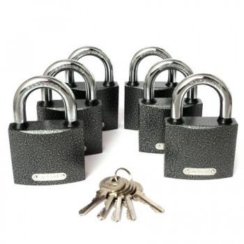 Замок навесной PD-01-63 ( 6 замков+5 ключей)
