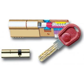 Цилиндр 90мм (35*55мм)ключ/ключ цвет латунь