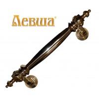 Ручка дверная опорная КУБ боковой c латунной вставкой ручной работы латунь