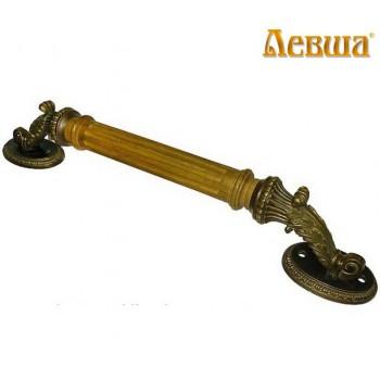 Дверная ручка под старину опорная Александровская с канелюрами