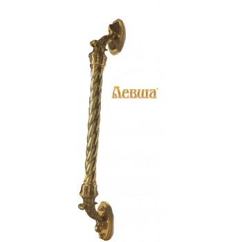 Дверная ручка опорная Александровская с латунной державкой межосевое расстояние 500мм  для парадных дверей