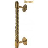 Дверная ручка латунная ручной работы ГЕНЕРАЛЬСКАЯ с латунной витой державкой