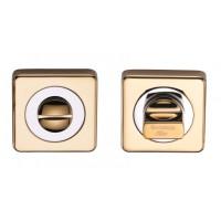 Завертки сантехнические квадратные wc ARCHIE SILLUR блестящее золото