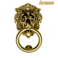 Ручка дверная элитная стучалка ЛЕВ цвет золото